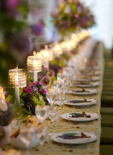 The Table Décor Should Be Low And People Should Be Able To See Across The  Table. We Like The Idea Of Long Tables With Bright Colored Flowers And Lots  Of ...