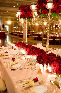 For The Reception Décor Midnight Masquerade We Love Roses And Candelabras Glow Of Candles Sets A Perfect Tone Are Clic